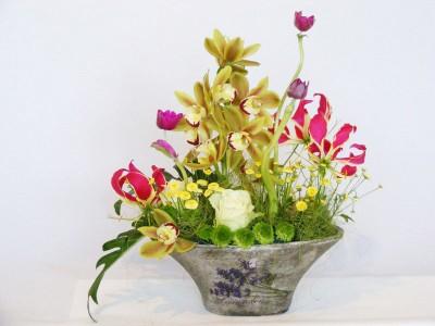 Cos cu flori MA09