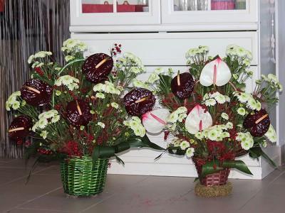 Cos de flori C18